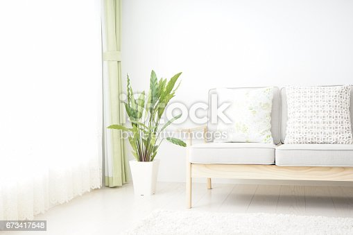istock Simple room with nobody 673417548