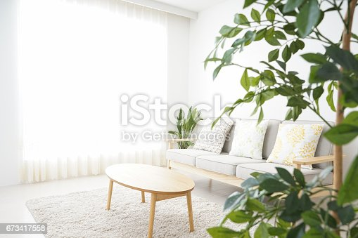 istock Simple room with nobody 673417558