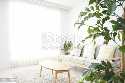 istock Simple room with nobody 673417560