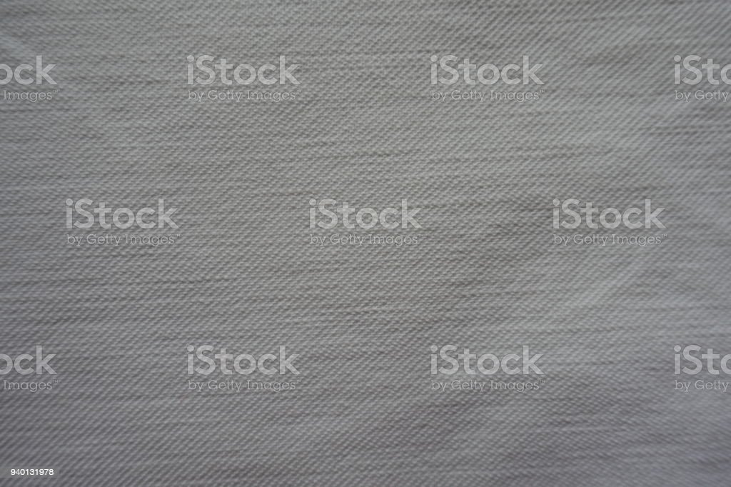 Simple rough  white denim fabric from above stock photo