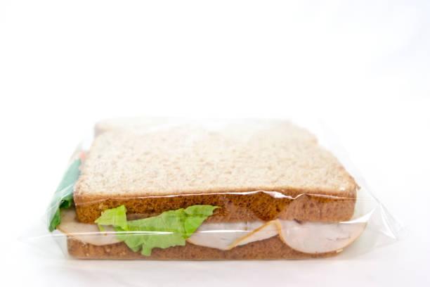 Simple Sandwich in Baggie stock photo