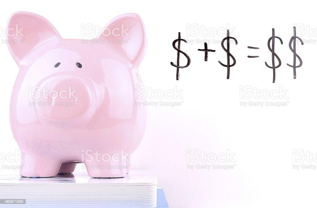 Simple Savings Equation stock photo