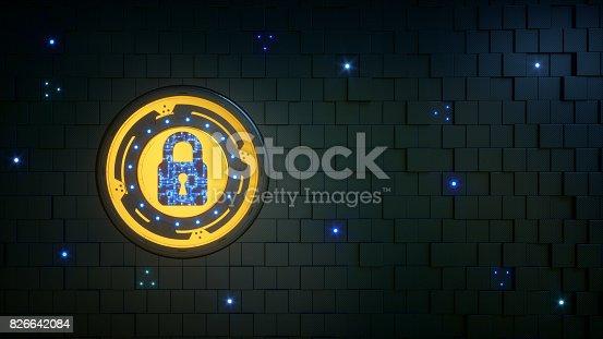 istock Simple Security Padlock Wallpaper 826642084