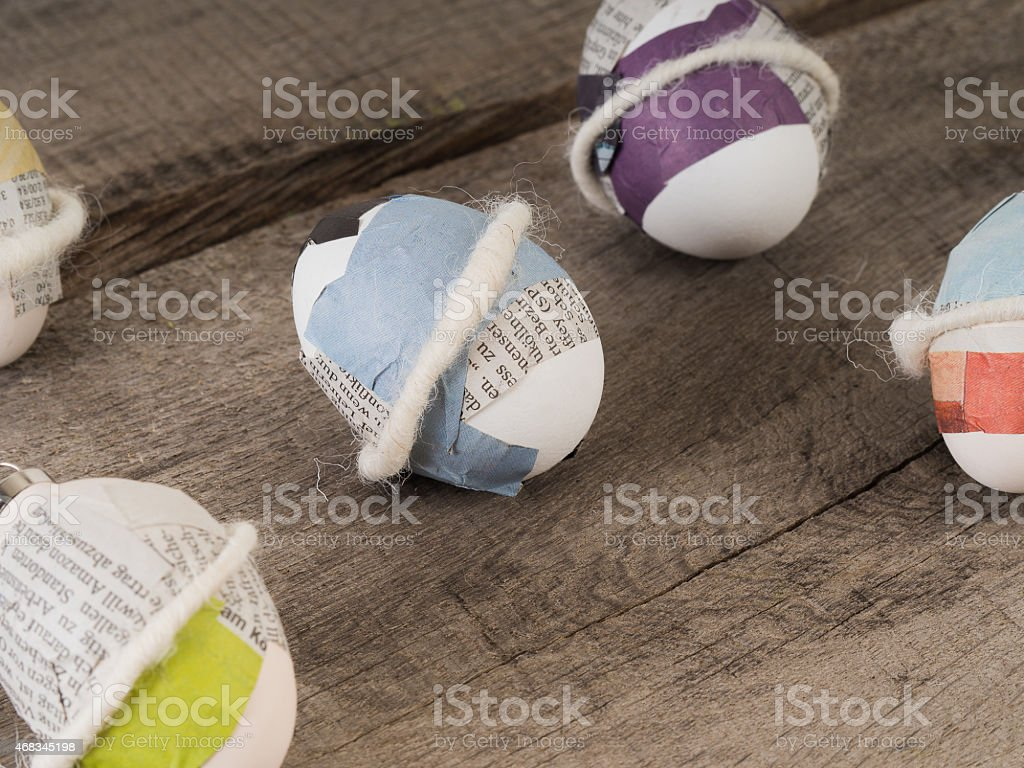 Simple selfmade easter eggs royalty-free stock photo