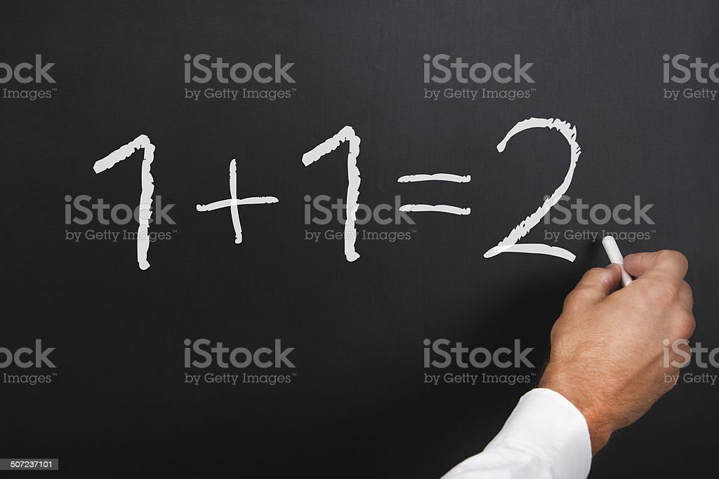 Simple solution stock photo