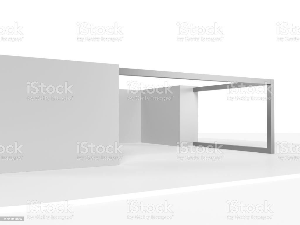 Simple stand stock photo