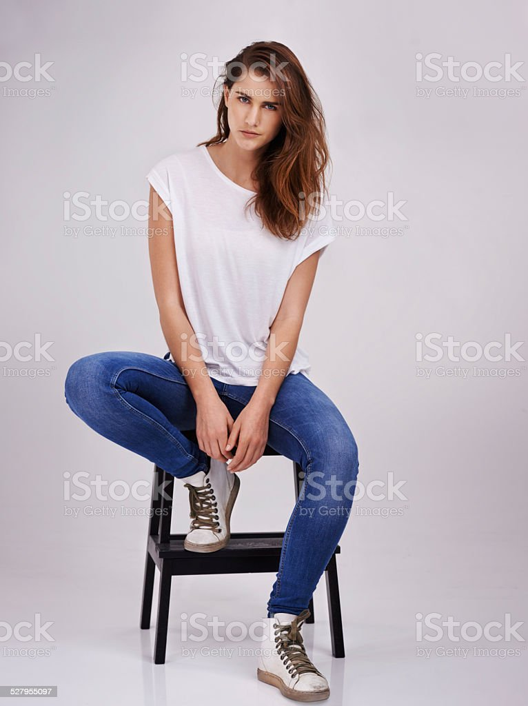Simple style suits me fine stock photo