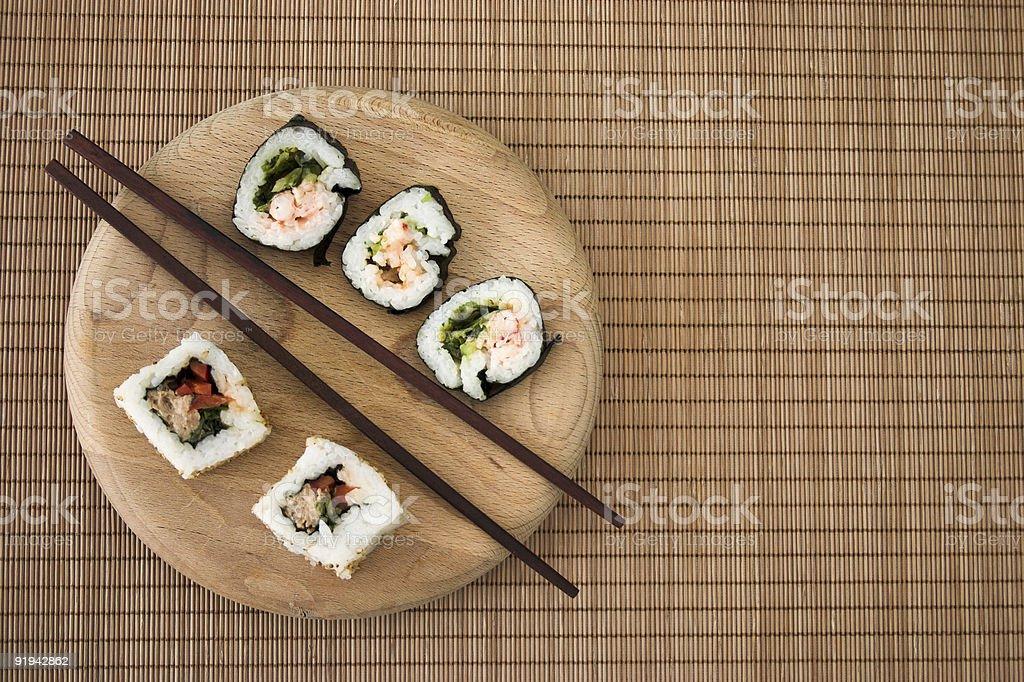 Simple sushi royalty-free stock photo