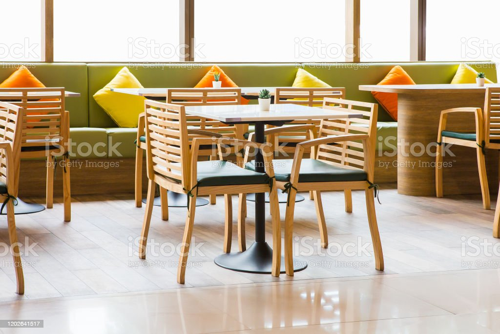 Simple Table And Chair Set In A Restaurant Stock Photo Download Image Now Istock