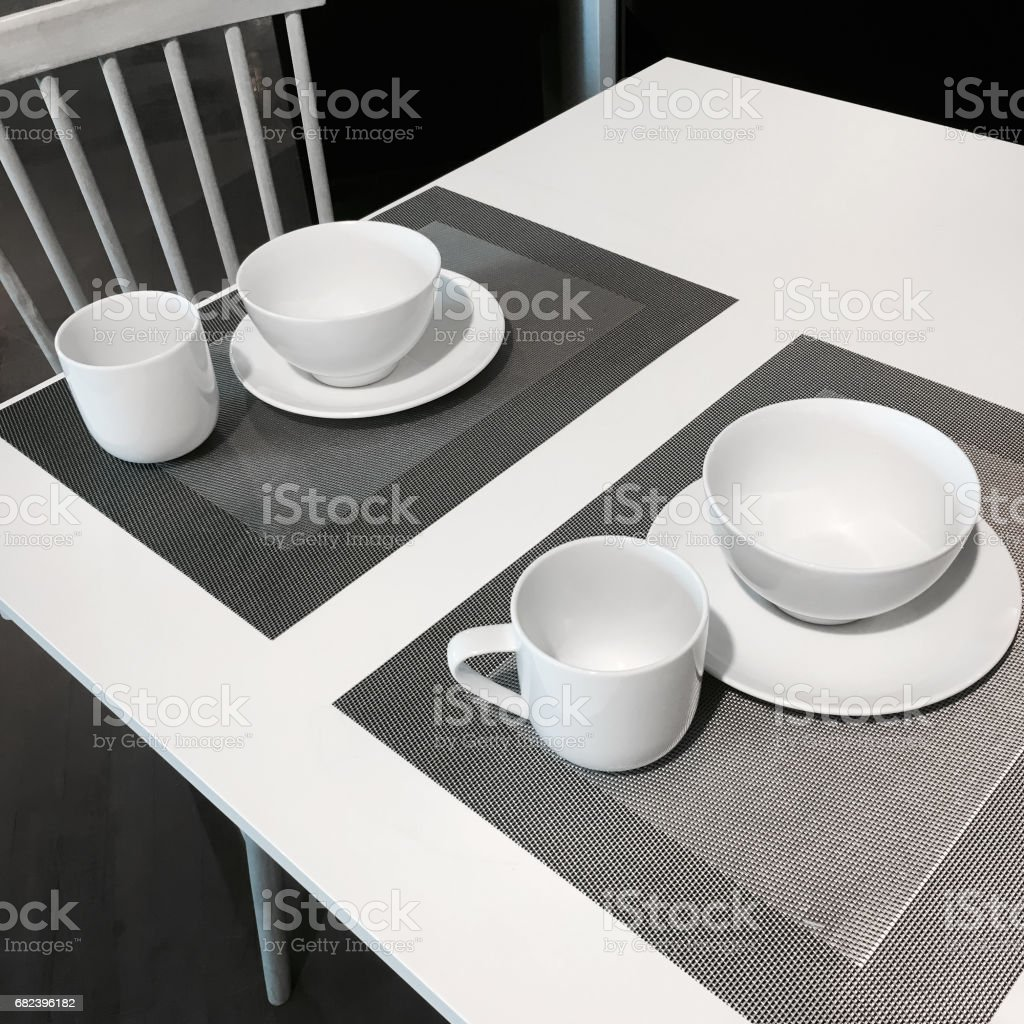 Simple table setting royalty-free stock photo