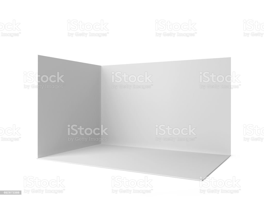 Simple trade show booth stock photo