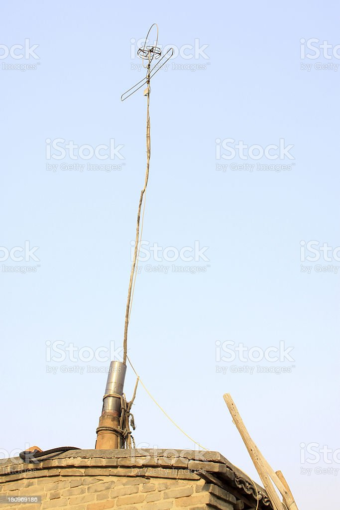 simple TV signal receiver royalty-free stock photo