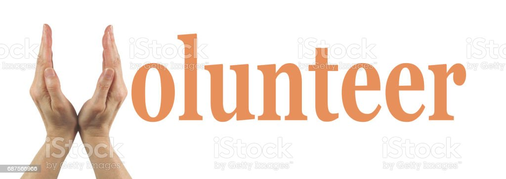 Simple Volunteer Banner stock photo