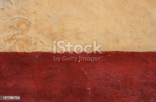 Part of an old painted adobe wall from Budapest 15th district.