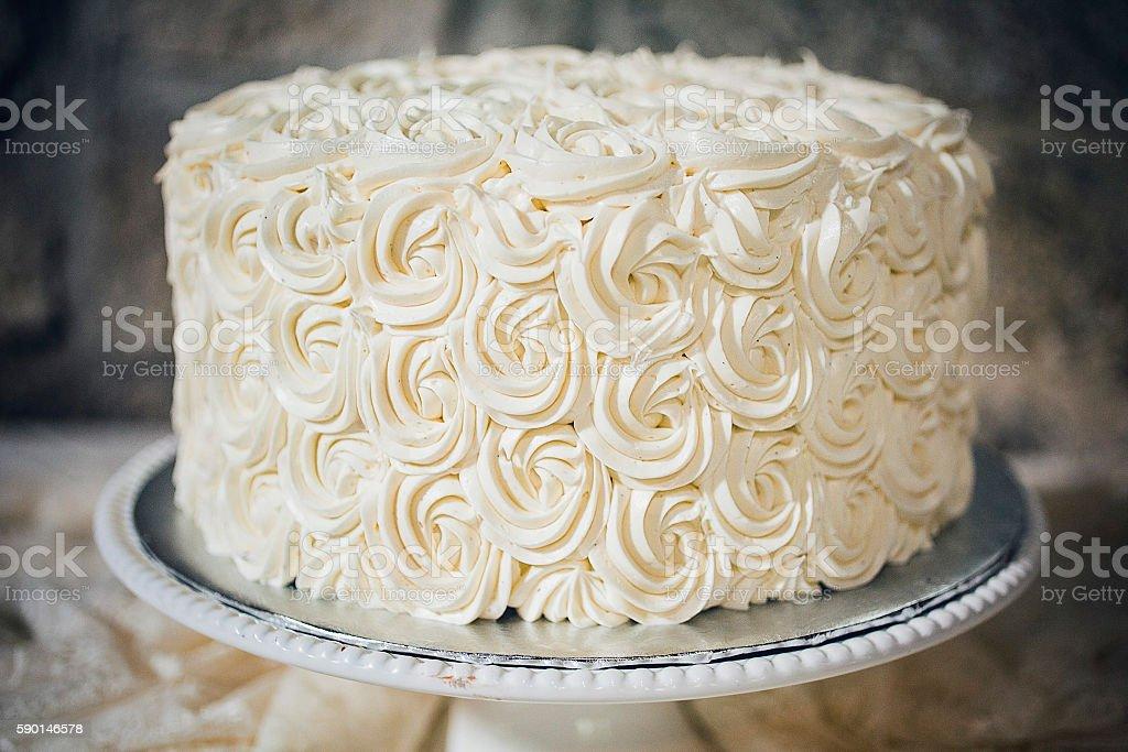 Simple Wedding Cake stock photo