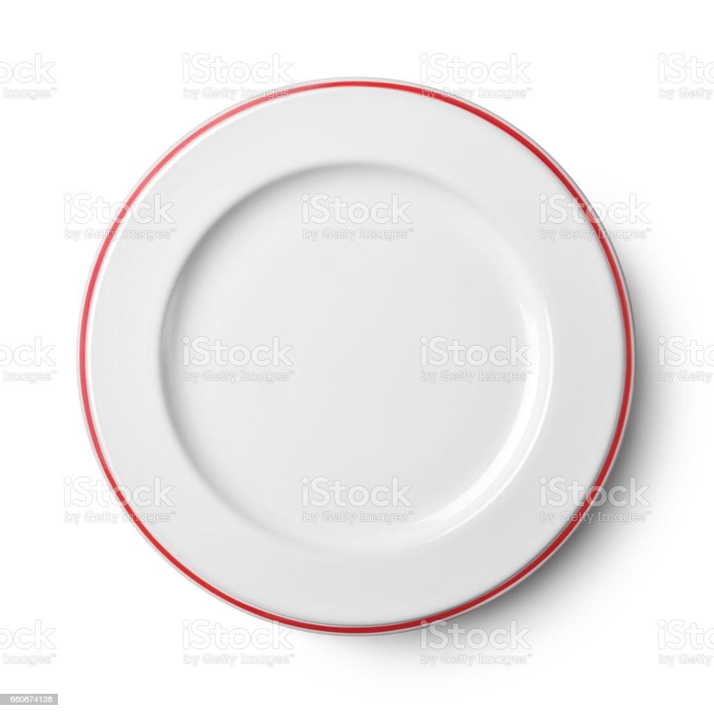 Simple white circular plate - Photo