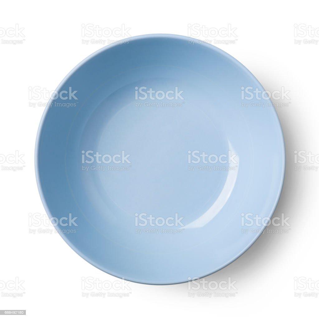 Simple white circular plate stock photo