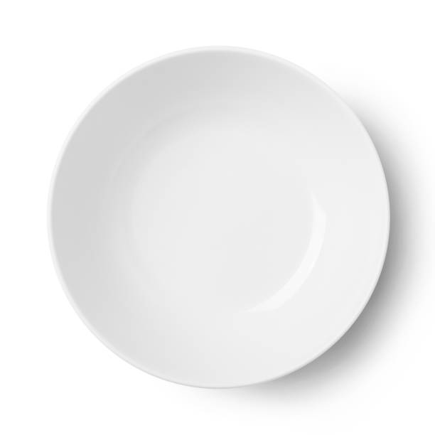 plaque circulaire blanche simple - concave photos et images de collection