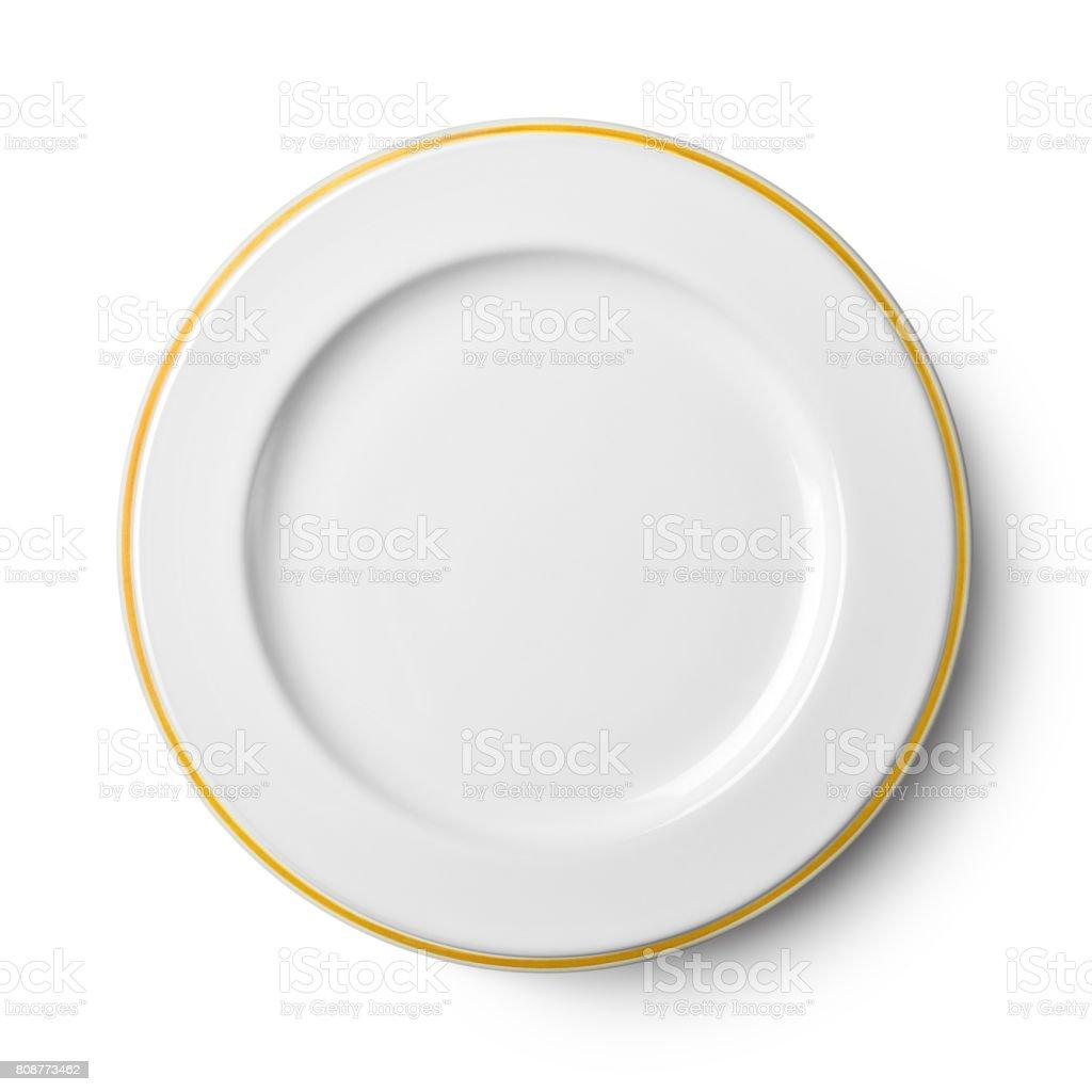 Assiette en porcelaine blanche - Photo