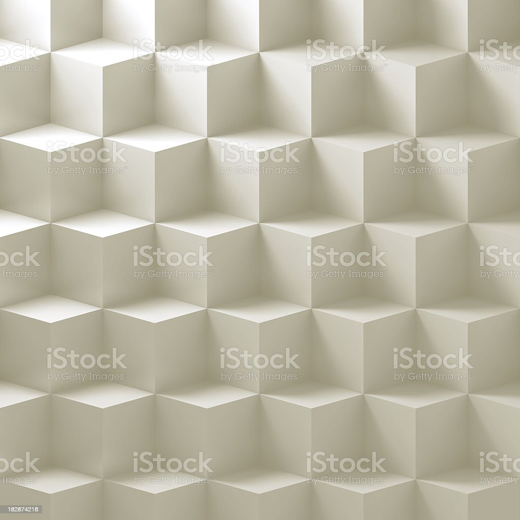 Simple white cubes stock photo