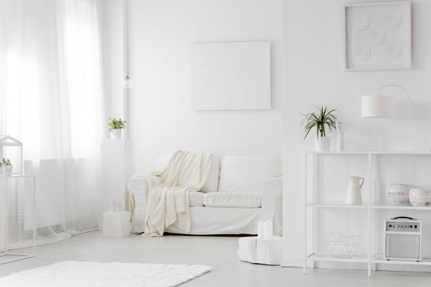 Intérieur de salon blanc simple - Photo