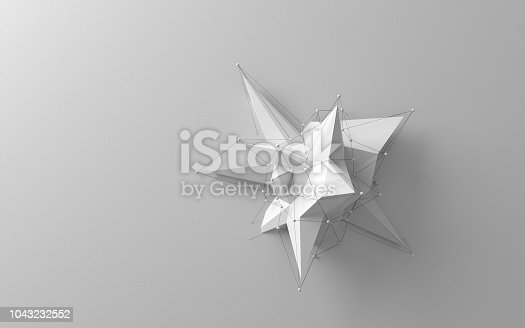 687269072istockphoto Simple white low poly object 1043232552