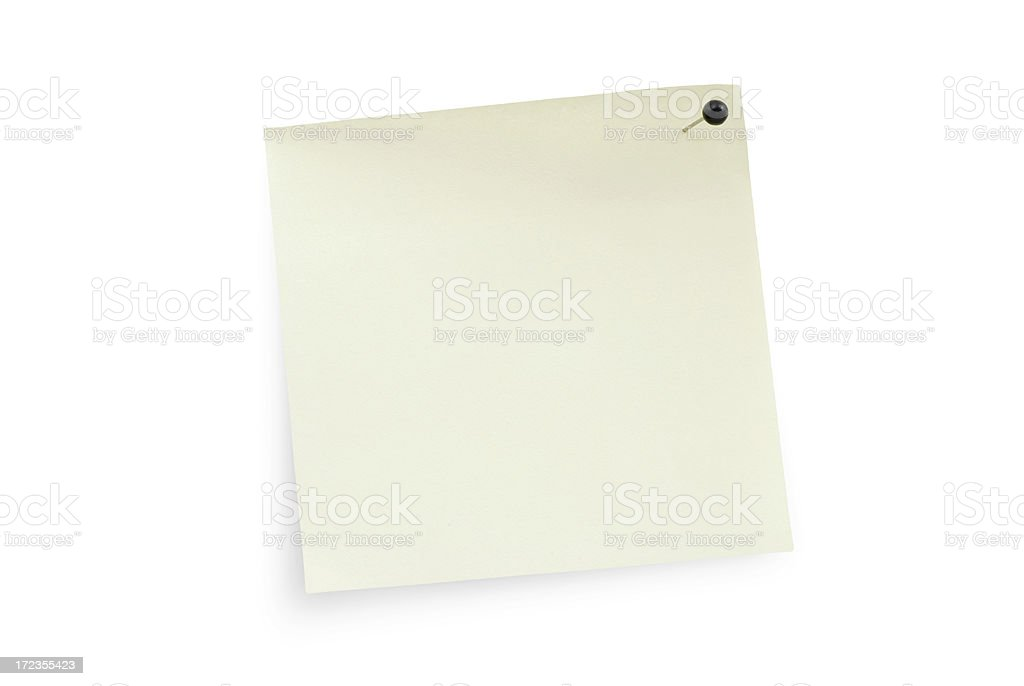 simple white note royalty-free stock photo