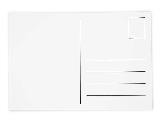 Simple White Postcard stock photo