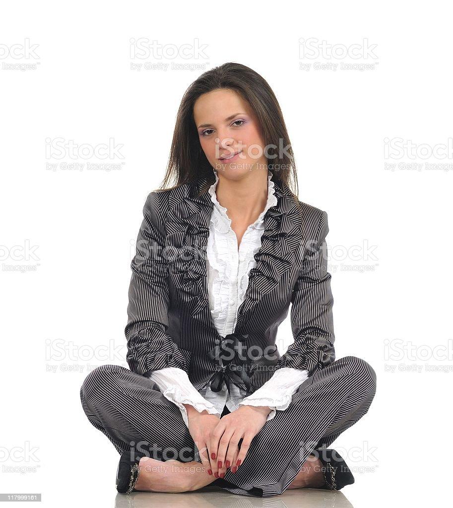 Simple woman portrait royalty-free stock photo