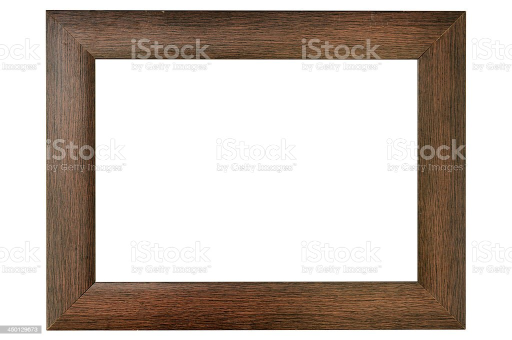 Simple wood frame stock photo
