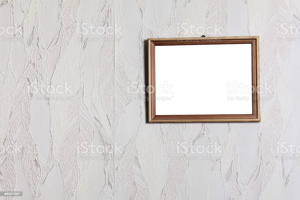 Simple wooden frame royalty-free stock photo