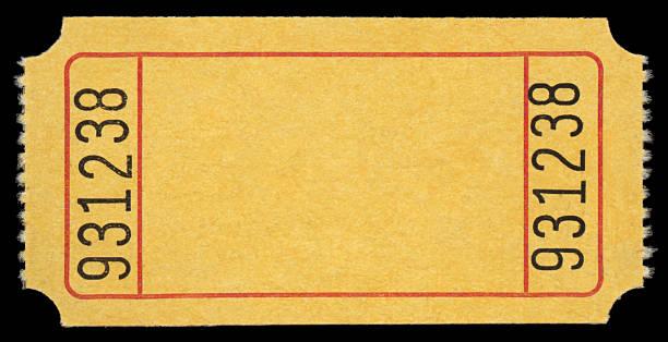 biglietto giallo - biglietto del cinema foto e immagini stock