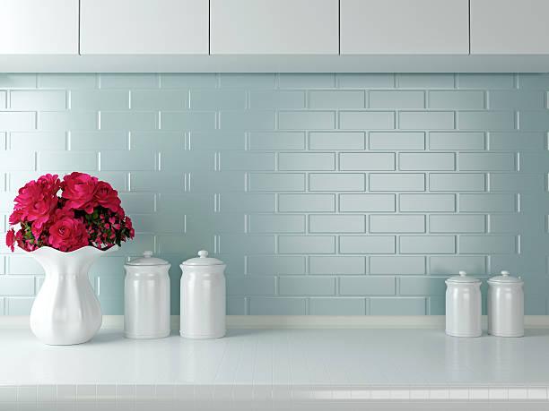 weiße küche-design. - keramik vase stock-fotos und bilder