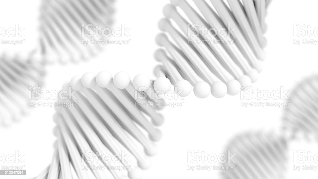 Simplified DNA Helix stock photo