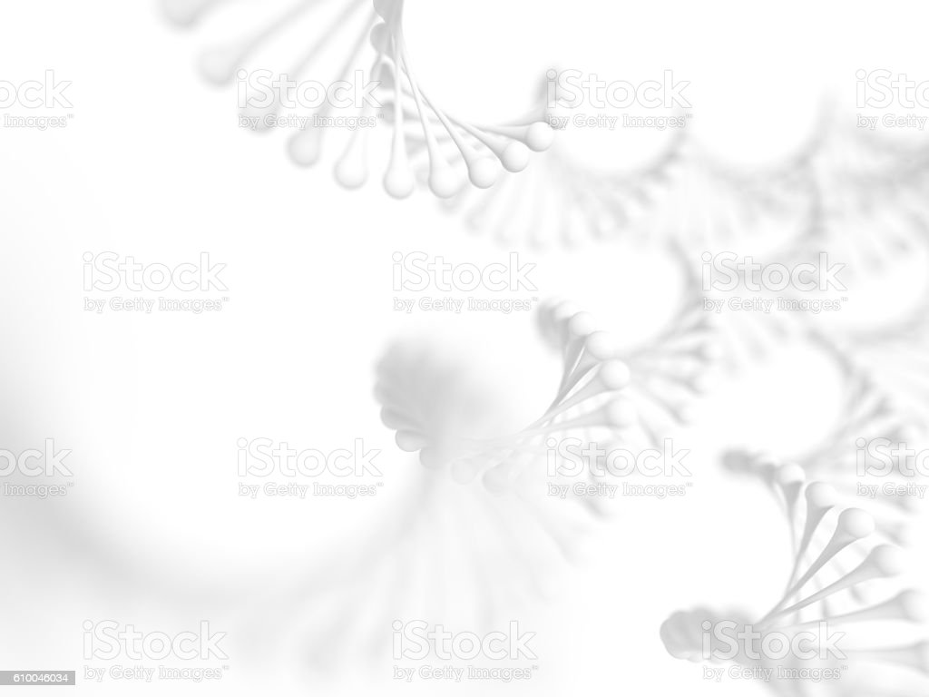 Simplified DNA molecular structure stock photo