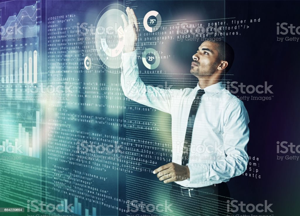 Simplifying the complex through cyberspace stock photo