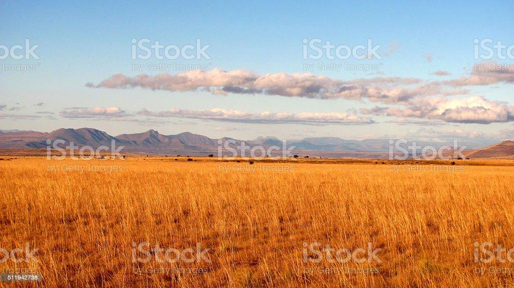 Simplistic landscape stock photo