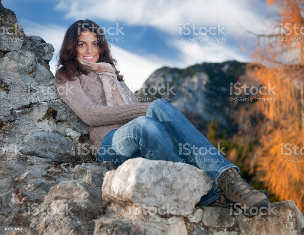 Simply Beautiful, Candid Braces Smile (XXXL) royalty-free stock photo