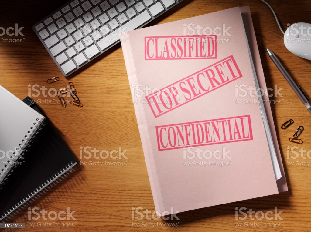 Simply Confidential royalty-free stock photo
