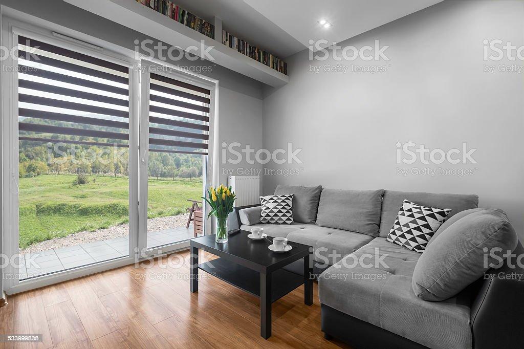 Simply designed interior stock photo