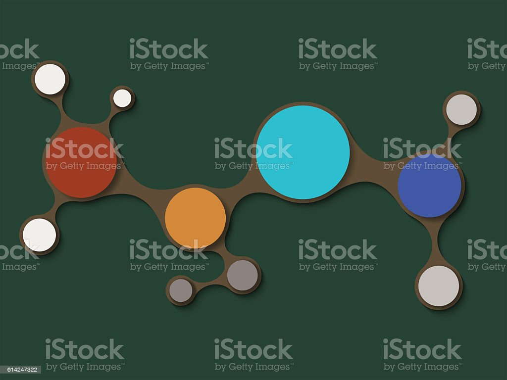 Simply minimal round infographic elements template design. Timeline concept presentations. stock photo