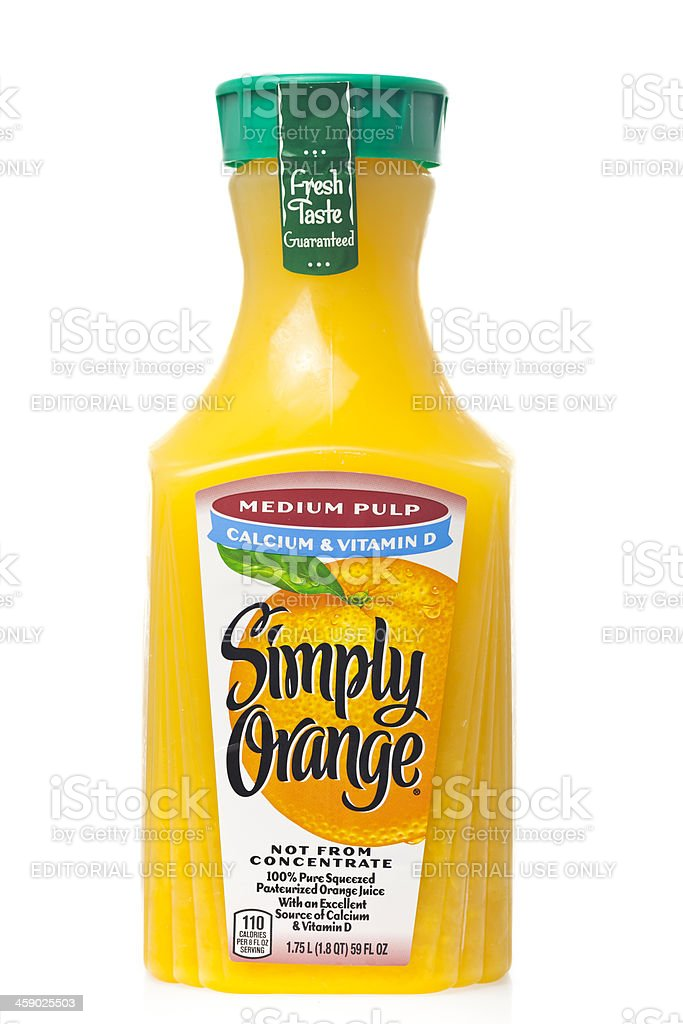 Simply Orange Juice royalty-free stock photo