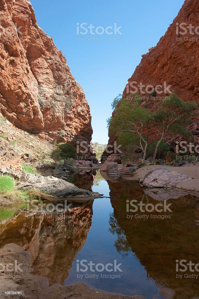 Simpson Gap Natural Gorge, Northern territory, Australia stock photo