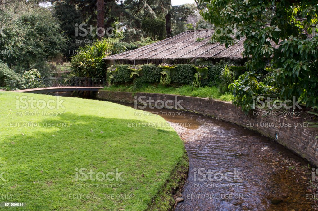 Simpson Shadehouse, Adelaide Botanic Garden stock photo