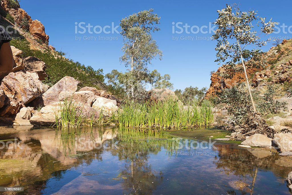 Simpsons Gap, MacDonnell Ranges, Australia royalty-free stock photo