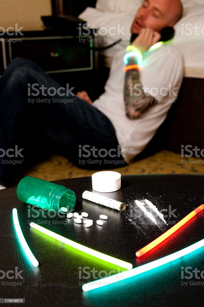 Simulated calling for Help royalty-free stock photo