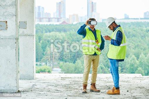 534196421istockphoto VR Simulation on Construction Site 1035457568