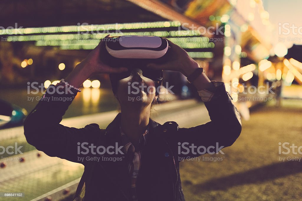 VR simulator photo libre de droits