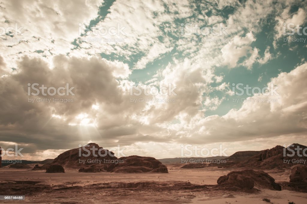 Sinai desert landscape - Royalty-free Accidents and Disasters Stock Photo