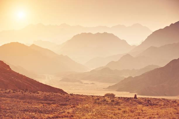 Sinai desert stock photo